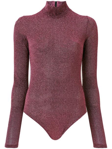 A.F.VANDEVORST body glitter women grey metallic underwear