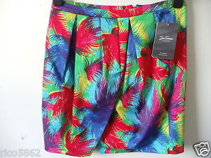 Zara trf gorgeous tropical print mini skirt wrap over skirt sz small