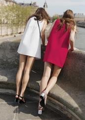 dress,red dress,white dress,mini dress,summer outfits,summer dress,sandals,black sandals,Silver sandals,& other stories