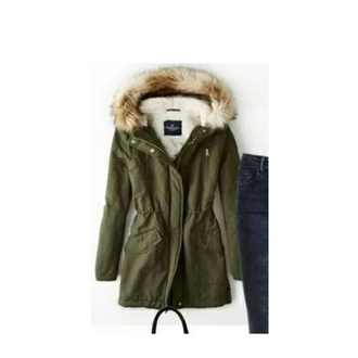 jacket parka coat army green fur hood parka army green winter coat