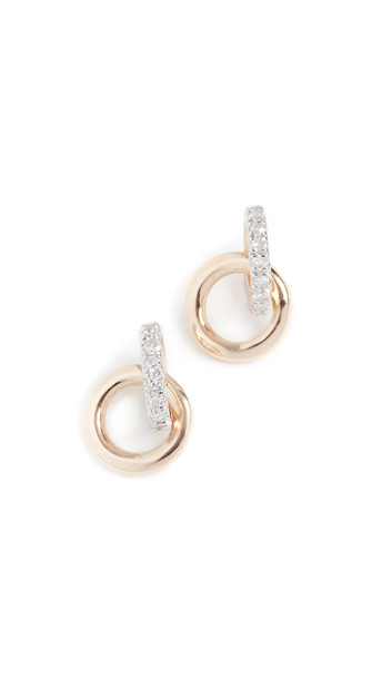 Adina Reyter 14k Diamond Interlocking Loop Post Earrings in gold / yellow