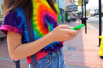 shirt t-shirt tie dye colorful