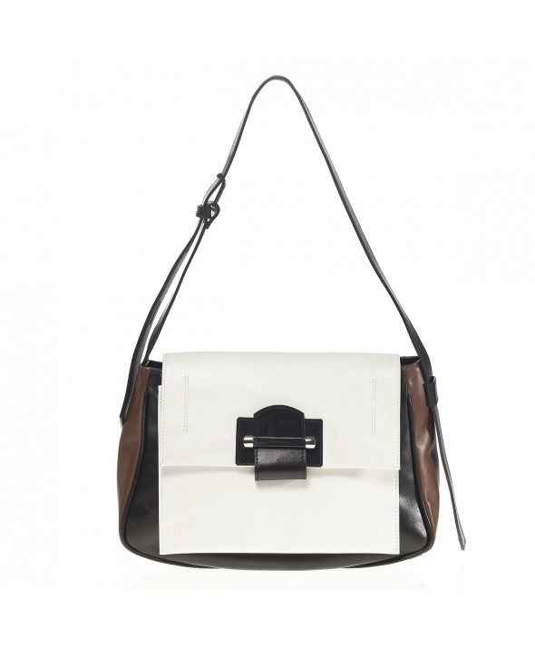 Cadence Shoulder Bag, White - Joanna Maxham