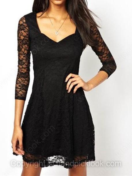 Dress Black Dress Little Black Dress Lace Dress Lace Black Lace