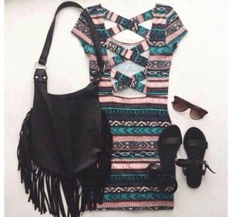 dress cross back tribal