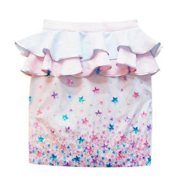 skirt pale cute pastel girly glitter weheartit tumblr girl lolita