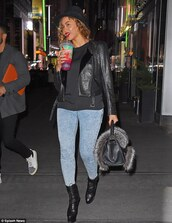 boots,booties,beyonce,fall outfits,jacket,jeans,bag