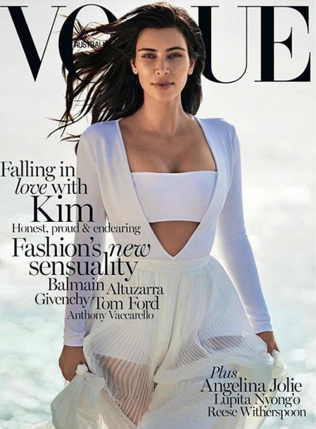 skirt kim kardashian vogue midi skirt midi dress top white editorial