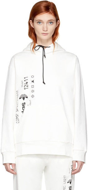 ADIDAS ORIGINALS BY ALEXANDER WANG hoodie white sweater
