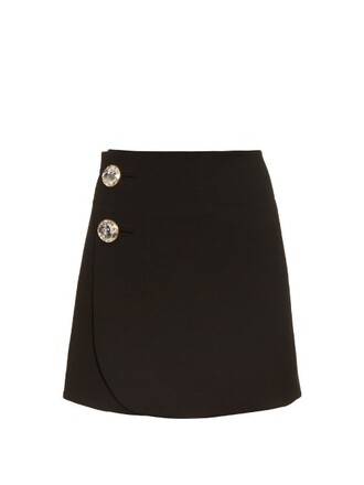 skirt mini skirt mini high wool black
