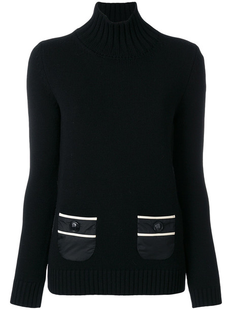 MONCLER GRENOBLE sweater women black wool