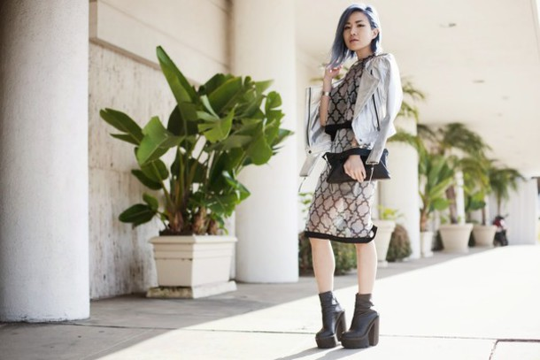 feral creature blogger two-piece see through platform shoes perfecto