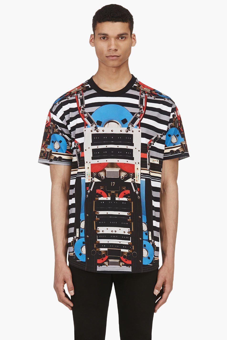 Givenchy black and grey robot graphic t_shirt