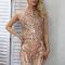 Sequin sheer dress