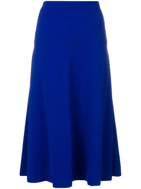 MARNI skirt midi skirt women midi spandex blue silk