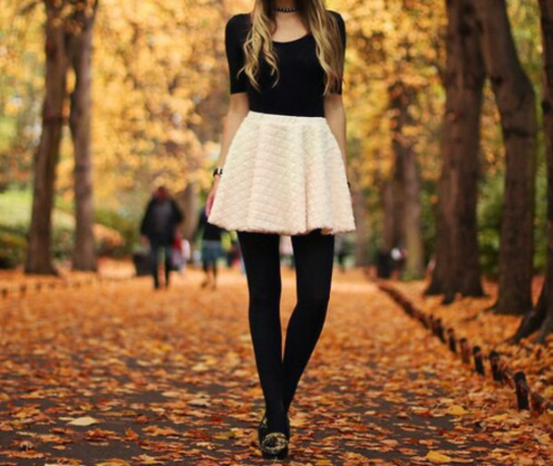 skirt leggings shirt