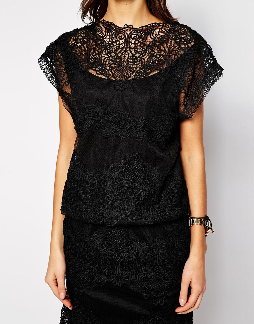 Y.a.s soup dress in lace at asos.com