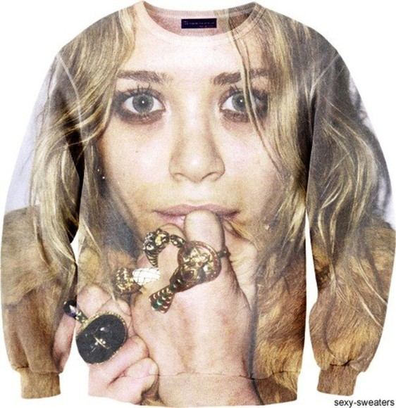 mary kate olsen clothes sweater celebrity mary-kate olsen sweatshirt crew neck mary kate