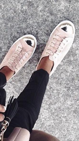 shoes pretty sneakers metal