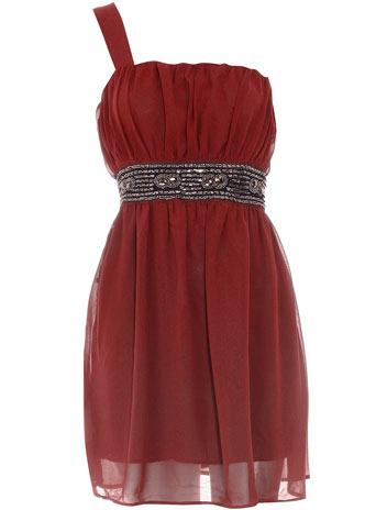 Maroon embellished dress