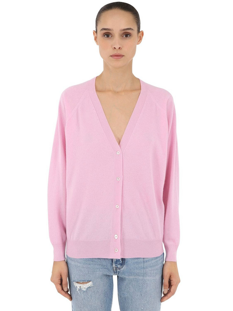 LUISA VIA ROMA Cashmere Knit Cardigan in pink