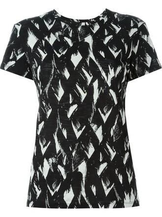 t-shirt shirt print black top