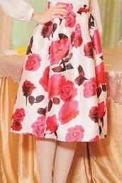 skirt,floral,midi skirt,summer,silk skirt