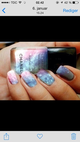 nail polish chanel galaxy galaxy print