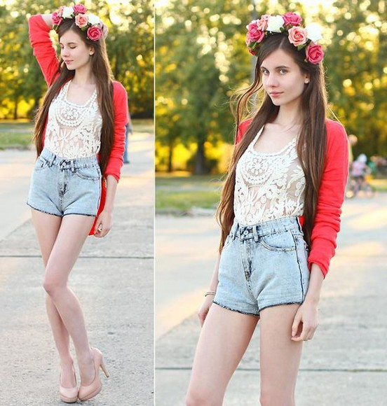 cute shorts high waisted short summer spring romwe hipster