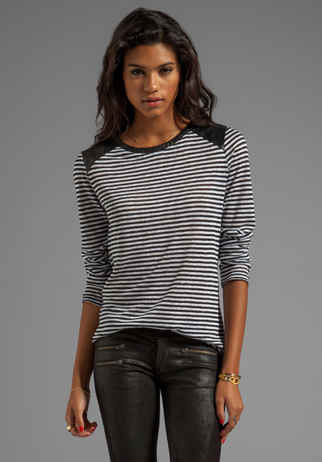 TOWNSEN Seattle Long Sleeve Top in Black/White Stripe at Revolve Clothing - Free Shipping!