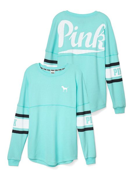 Shirt: blue and its pink like the brand p pink, sweater ...
