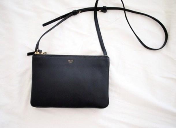 celine blue leather handbag luggage