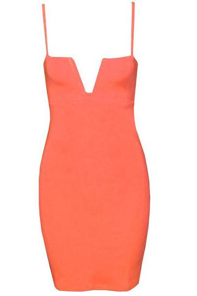 Catlin V Bodycon Dress   Outfit Made