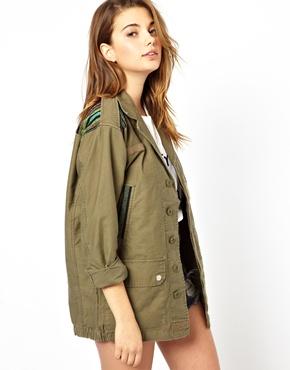 Glamorous – jacke in khaki bei asos