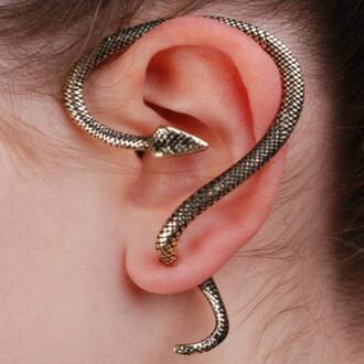 jewels earrings gothic style snake earring snake ear cuff