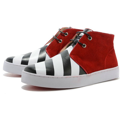 Christian Louboutin Men Sneakers White Red Red Bottom Shoes - $765.00