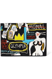 embroidered,clutch,cotton,black,wool,bag