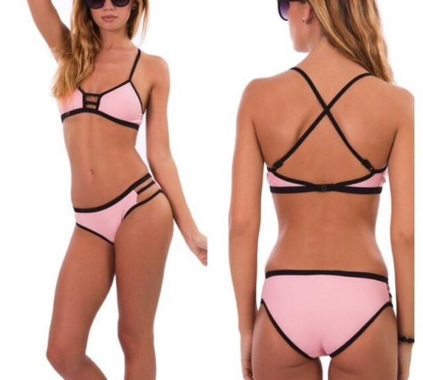 swimwear, cut-out, cute, bikini, bikini top, bikini ...