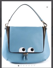 bag,anya hindmarch,eyes,blue bag