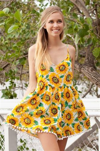 Shop Fashion Avenue - Sunflowers Playsuit