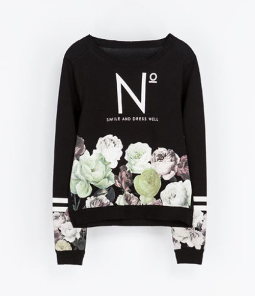 top chic floral vogue style sweater floral pullover blogger floral sweater