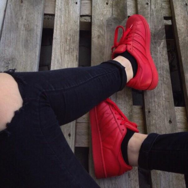 adidas superstar adicolor rood