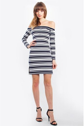 dress,clothes,navy,stripes,sugar lips,white,highend bodycon dress,zipper closure,bikini luxe