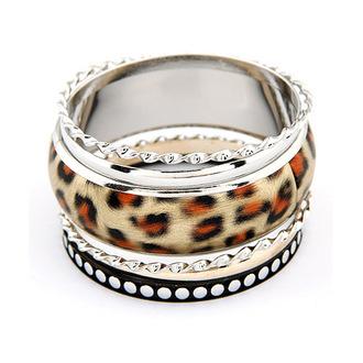 bracelets jewels fashion leopard print bangles ring
