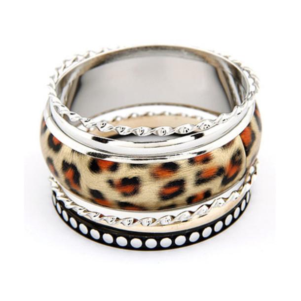 Jewels: jewelry, leopard print, bangle, ring, bracelets ...