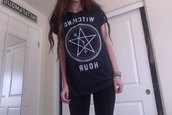 t-shirt,blue,witching hour,witching,hour,band t-shirt,sweater,shirt,acacia brinley,cute,cute as fuck,instagram,tumblr,pale,pretty,perfection,clothes,grunge,black,clock,white