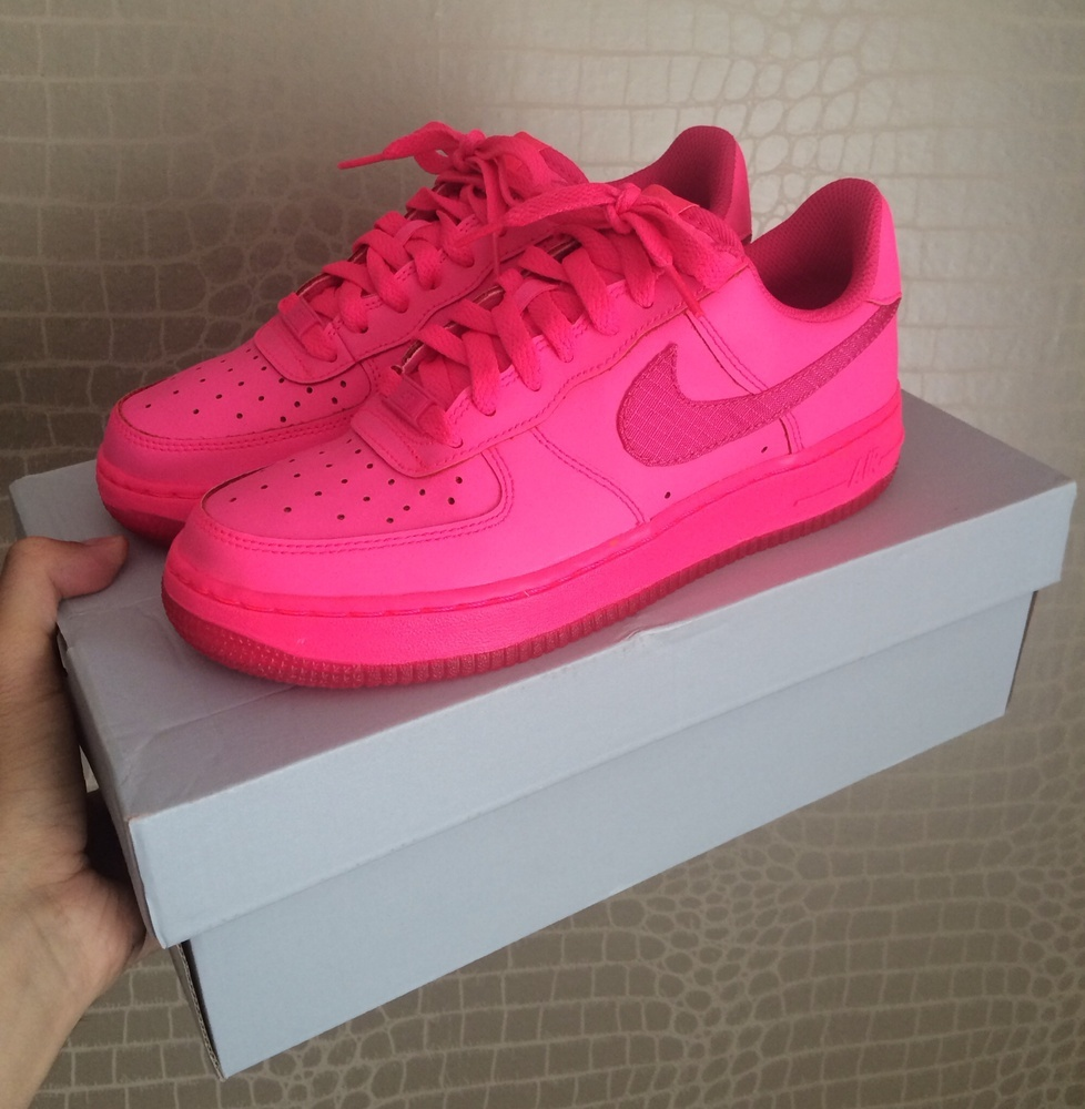 nike air force 1 gs 39 hyper pink vivid pink 39. Black Bedroom Furniture Sets. Home Design Ideas
