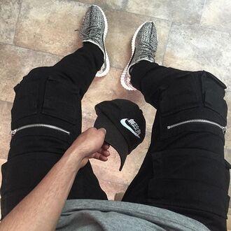 jeans maniere de voir trouser cargo pants zipped black pants menswear urban menswear mens cargo pants