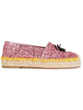 glitter women espadrilles leather cotton purple pink shoes