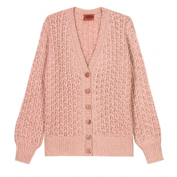 Missoni Wave Criss-Cross Chunky Knit Cardigan - Polyvore